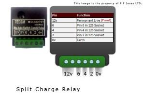 Towbar electrics Charge relay TEC3M