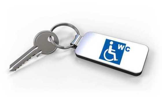 Euroschlüssel für öffentliche Behinderten-WC