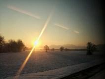 Blick zurück in die Chiemgauer Berge