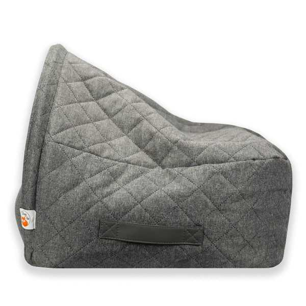 2. Sleepy Fox®-Snuggle Cave Bed for Dogs and Cats-Quilted Grey_Side_View.jpg