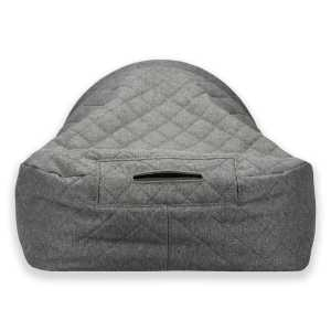 3. Sleepy Fox®-Snuggle Cave Bed for Dogs and Cats-Quilted Grey_Back.jpg