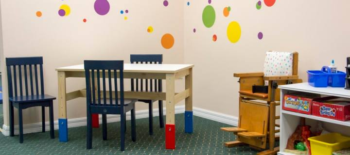 A picture of the table top area in the Play for Real Therapy Clinic - Play for Real Pediatric Occupational Therapy