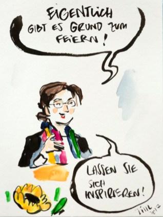 Begrüßung durch Prof. Charis Förster