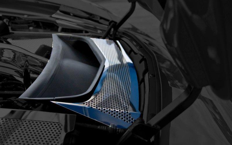 Stainless Vent Tube Hood Extractor Cover For C7 Corvette