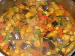 Chickpea & Eggplant Curry
