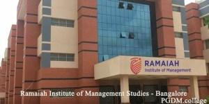 Ramaiah Institute of Management Studies - Bangalore