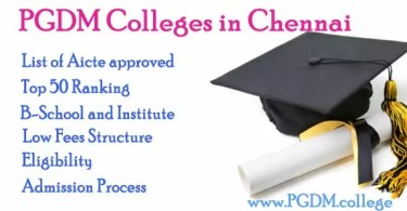 PGDM Colleges in Chennai