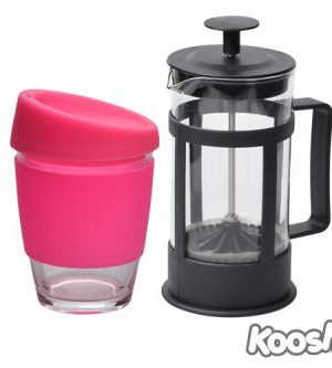 Kooshty Single Koffee Set Black Press - Avail in: White