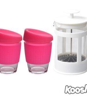 Kooshty Double Koffee Set White Press - Avail in: White