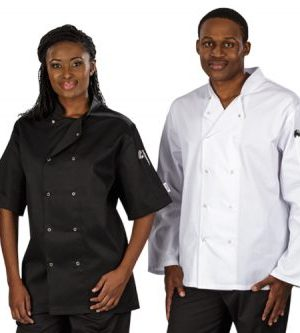 Zest Chef Jacket Long Sleeve - Avail in: Black