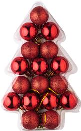 17 Piece Christmas Ball Set
