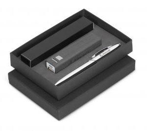 Oakridge Power Bank & Pen Gift Set - Avail in Beige