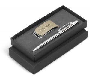Oakridge USB & Pen Gift Set - Avail in Beige