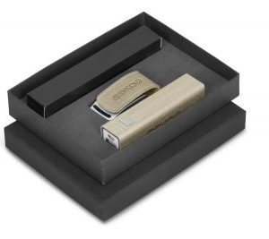 Oakridge Power Bank & USB Gift Set - Avail in Beige