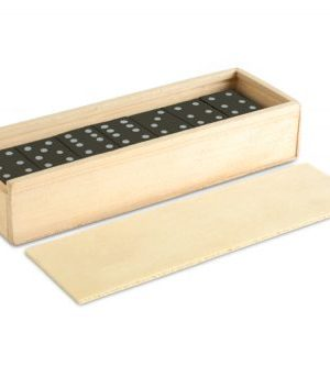 Dominos In Wooden Box