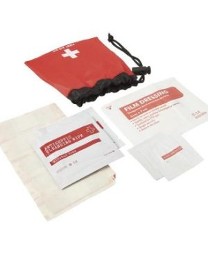 11 Piece First Aid Kit in Drawstring Pouch
