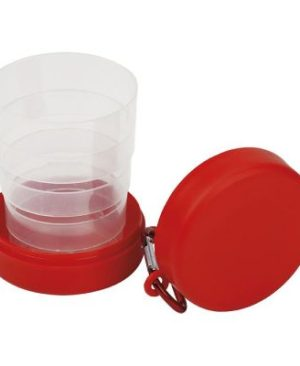 220ml Foldable Cup with Pill Holder and Carabiner Clip