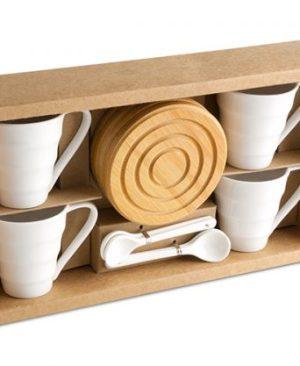 Walnut Espresso Set - Avail in: White