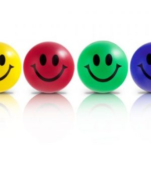 Smile Stress Ball - Avail in: Red