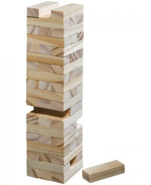 Anti-stress wooden jenga game