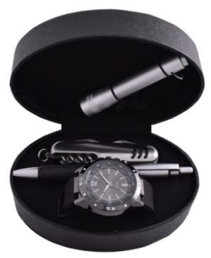 Military Survival Gift Set with watch