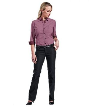 Ladies Stretch Chino Pants - Avail in: Black
