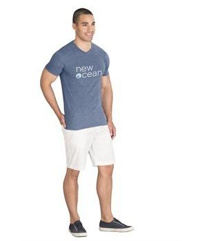 Mens Michigan Melange V-Neck T-Shirt