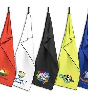 Rally Microfibre Sports Towel - Black
