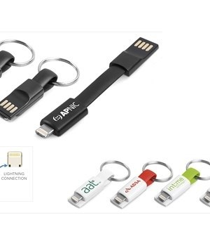 Ready-Charge 2-in-1 Cable Keyholder - Black
