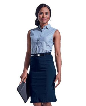 Barron Ladies Tailor Stretch Skirt - Avail in: Black or Navy
