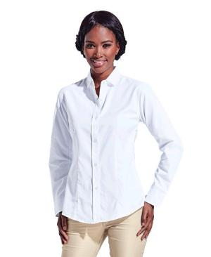 Barron Ladies Clayton Blouse Shirt Long Sleeve - Avail in: Navy