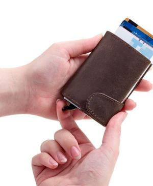 Leather RFID Pop Up Wallet - Avail in: Black or Brown