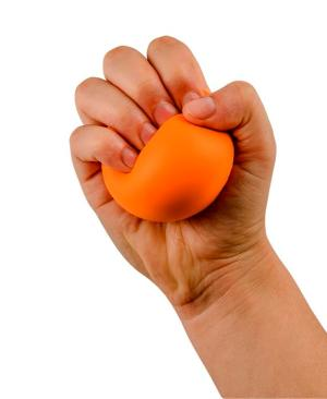 Memory Foam Stress Ball - Avail in: Orange