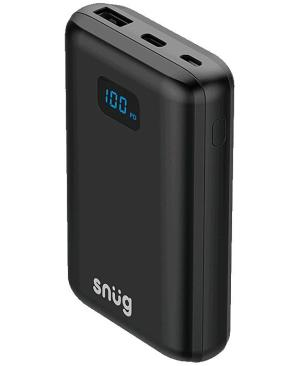 Snug Power Bank With Digital Battery Indicator 10000 mAh - Avail in: Black