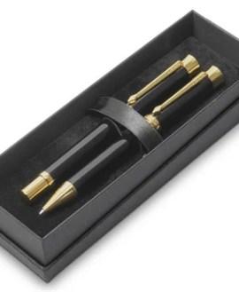 Alex Varga Corona Ball Pen & Rollerball Set-Black