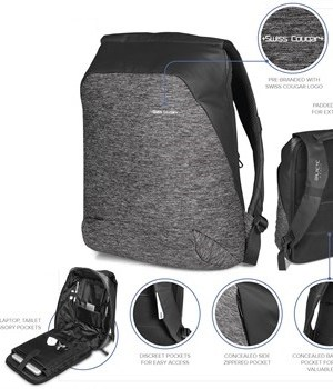 Swiss Cougar Equity Tech Backpack - Grey