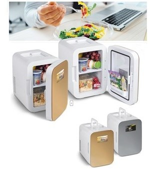 Blaine Desk Fridge - Avail in: Gold or Silver