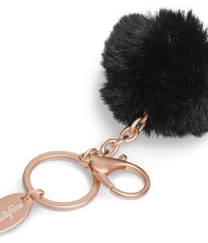 Pom-Pom Keyholder - Black