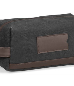 Hamilton Canvas Toiletry Bag - Charcoal