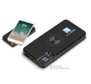 Mirage 8000mAh Wireless Power Bank - Black