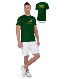 Springbok Unisex T- Shirt Option 1 - Available in: Black