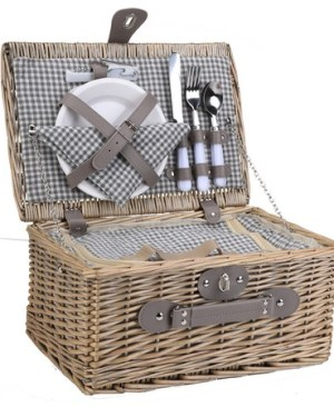2-Person Wicker Picnic Basket