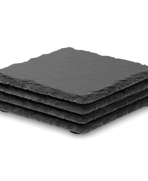 4 Piece Slate Coaster Set