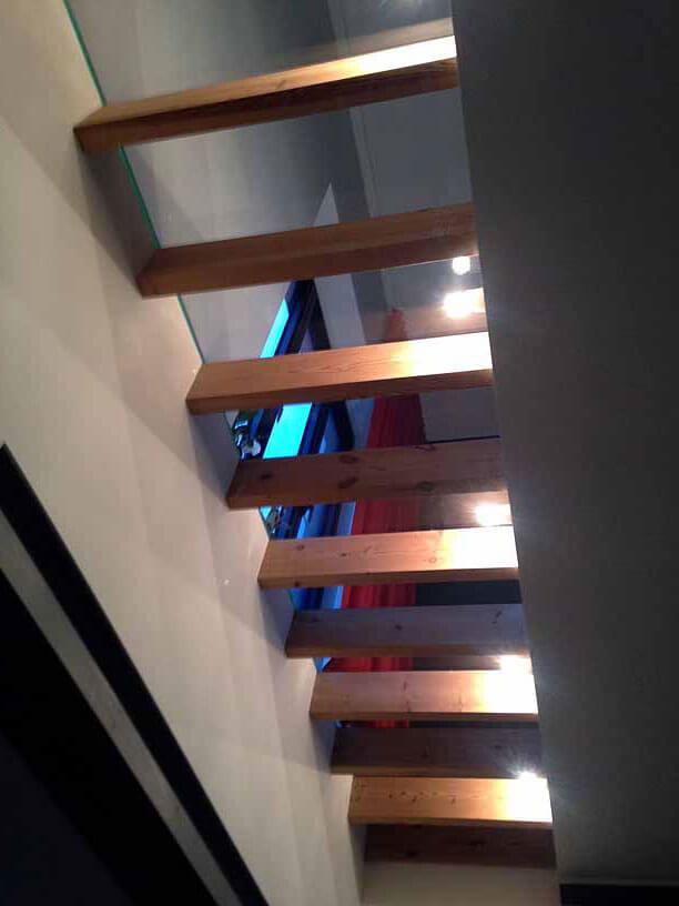 Pglas - Glazen vloer met helder gelaagd glas 001