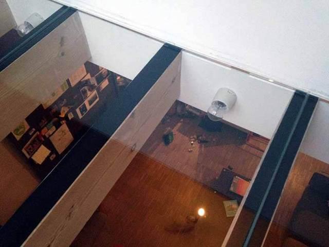 Pglas - Glazen vloer met helder gelaagd glas 005