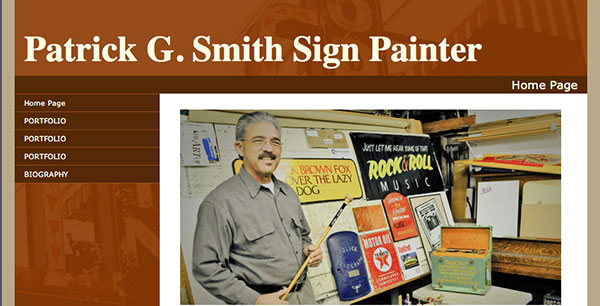 My old sign making website
