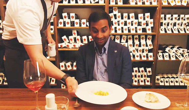 Image result for aziz ansari pasta