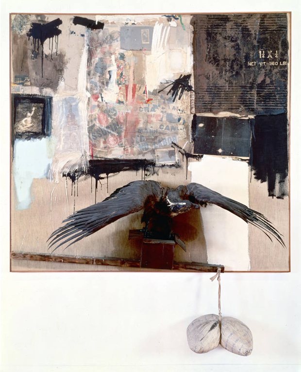 Canyon (1959) by Robert Rauschenberg, one of the artist's famous combines