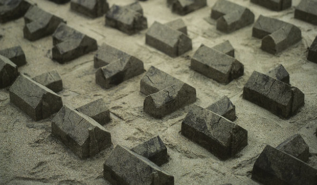 American Designer Creates Sandcastle Suburbia