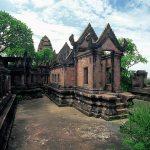 Die fugenlos, ohne Mörtel, errichteten Steinbauten der Khmer wie der Prasat Preah Vihear gehören zum Eindrucksvollsten, das man in Südostasien sehen kann. Source: วิกิพีเดียไทย